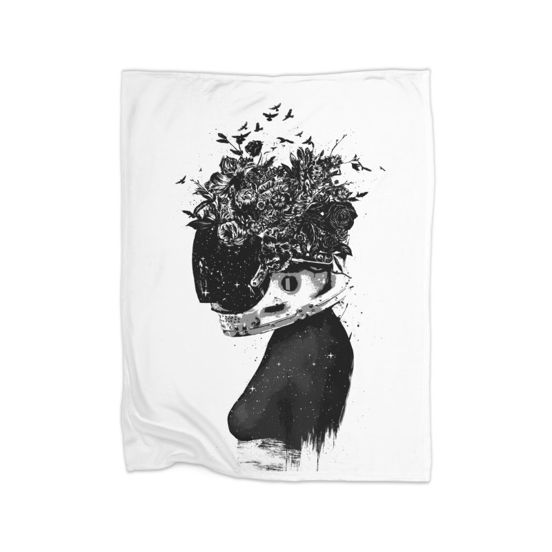Hybrid  girl Home Blanket by Balazs Solti