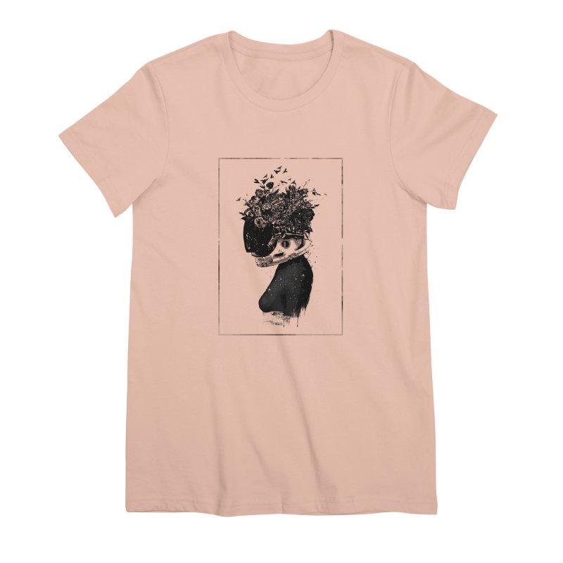 Hybrid  girl Women's Premium T-Shirt by Balazs Solti