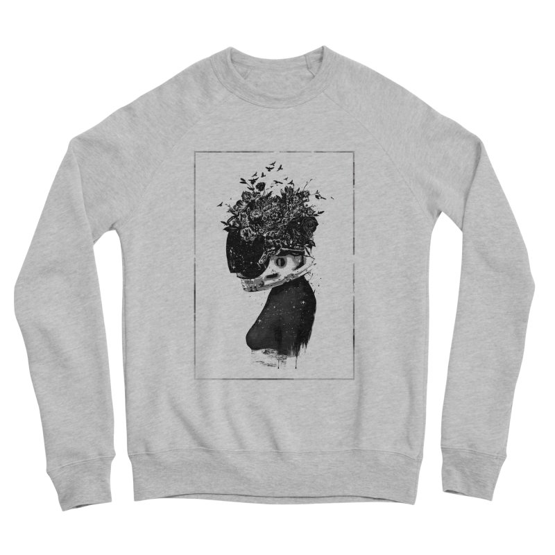 Hybrid  girl Men's Sponge Fleece Sweatshirt by Balazs Solti