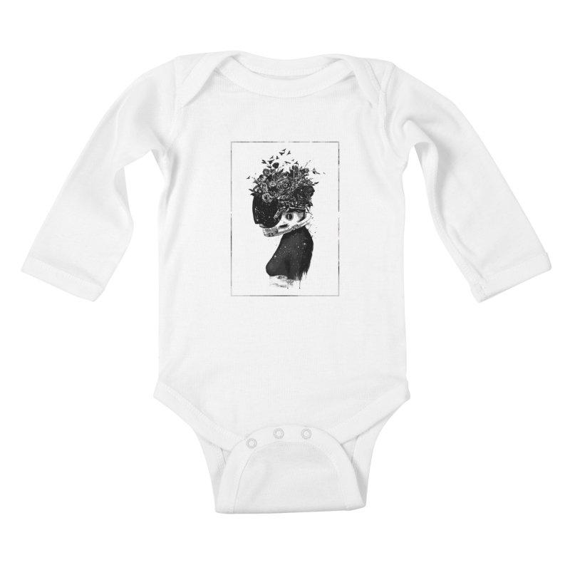 Hybrid  girl Kids Baby Longsleeve Bodysuit by Balazs Solti