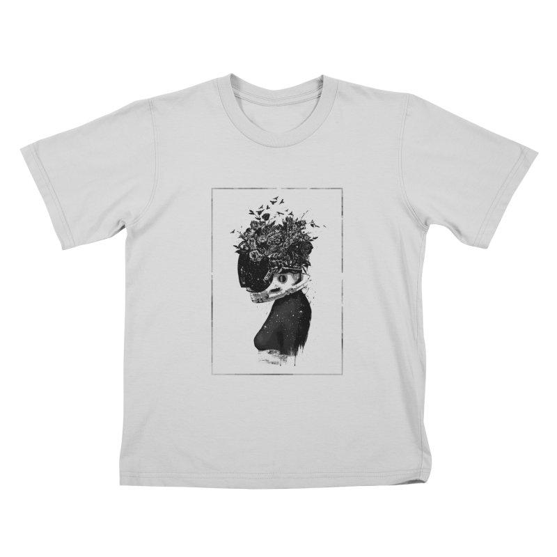 Hybrid  girl Kids T-Shirt by Balazs Solti