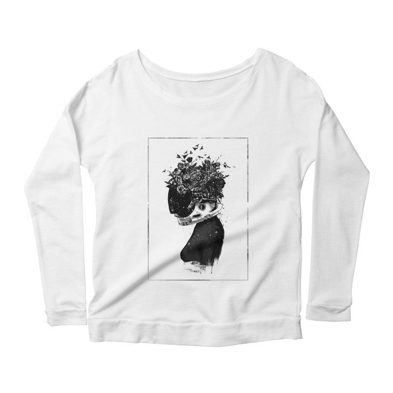 Hybrid  girl Women's Scoop Neck Longsleeve T-Shirt by Balazs Solti