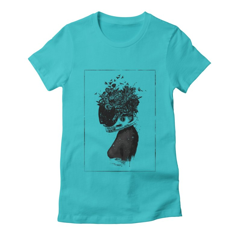 Hybrid  girl Women's Fitted T-Shirt by Balazs Solti