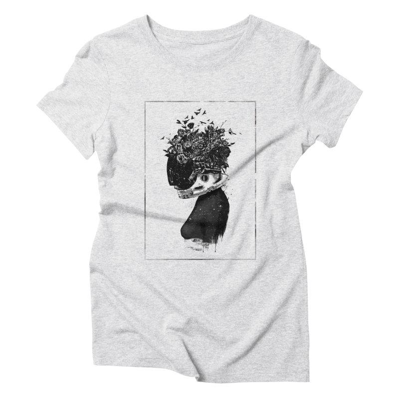 Hybrid  girl Women's Triblend T-Shirt by Balazs Solti