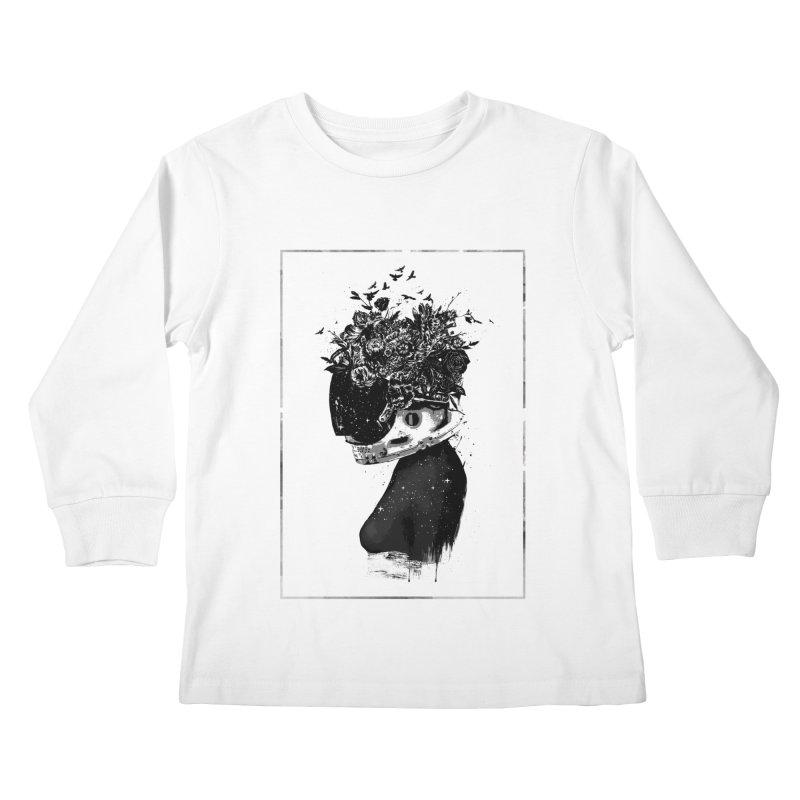 Hybrid  girl Kids Longsleeve T-Shirt by Balazs Solti