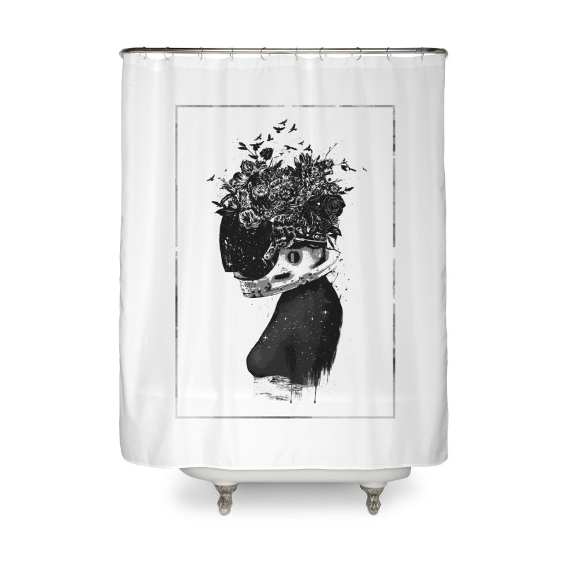 Hybrid  girl Home Shower Curtain by Balazs Solti