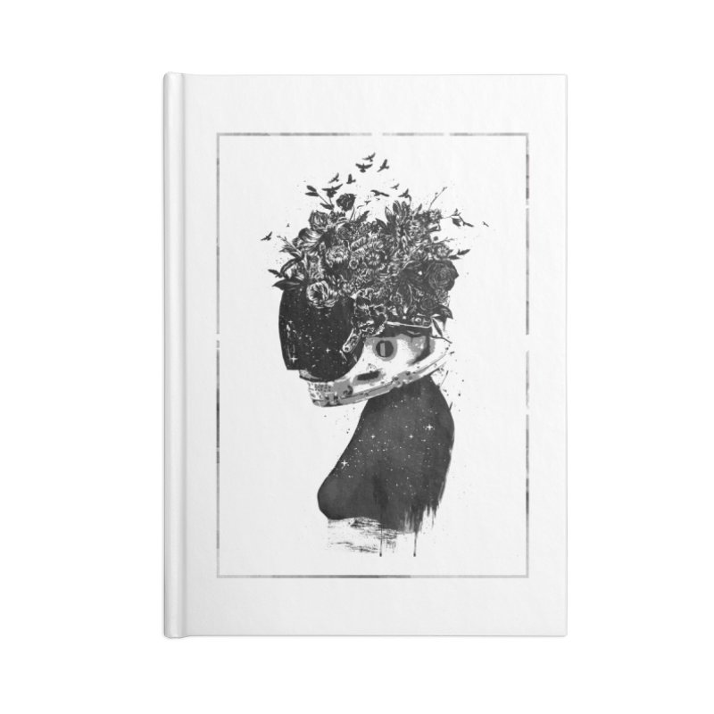 Hybrid  girl Accessories Blank Journal Notebook by Balazs Solti