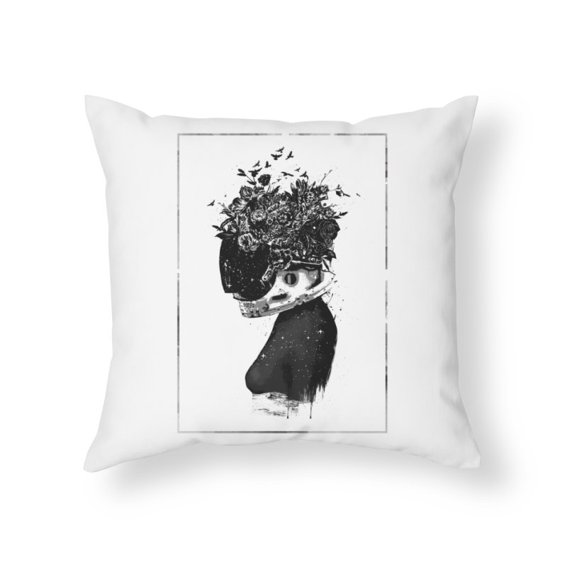 Hybrid  girl Home Throw Pillow by Balazs Solti