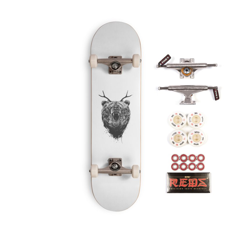 Angry bear with antlers Accessories Complete - Pro Skateboard by Balazs Solti