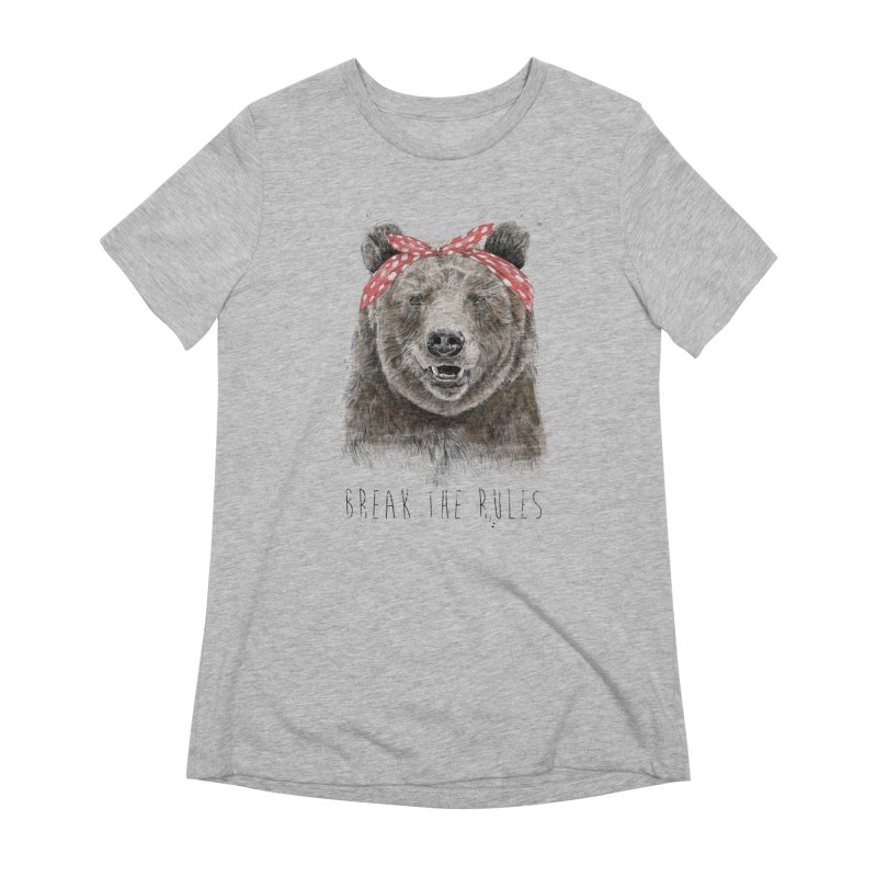 Break the rules Women's Extra Soft T-Shirt by Balazs Solti