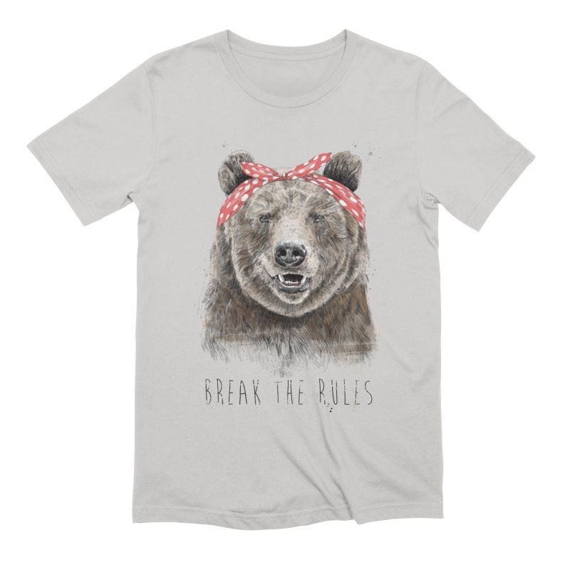 Break the rules Men's Extra Soft T-Shirt by Balazs Solti