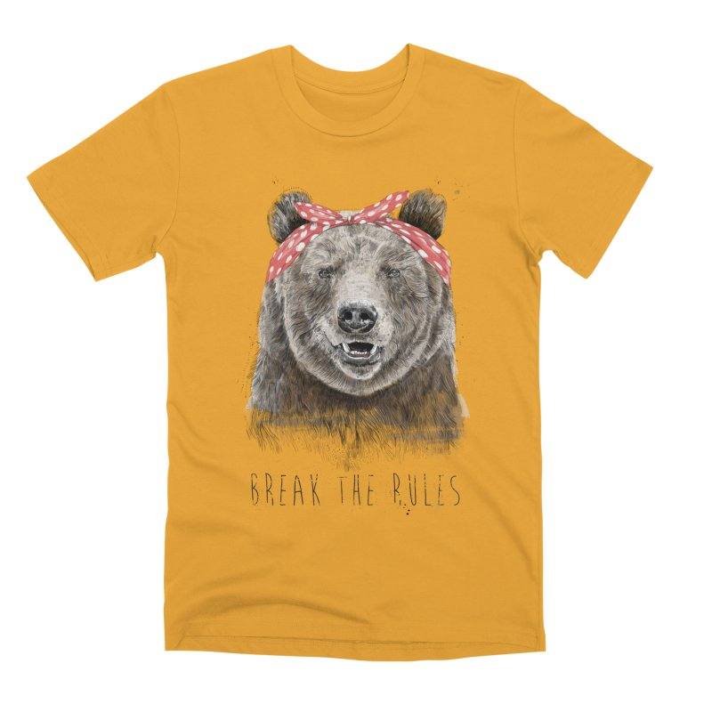 Break the rules Men's Premium T-Shirt by Balazs Solti