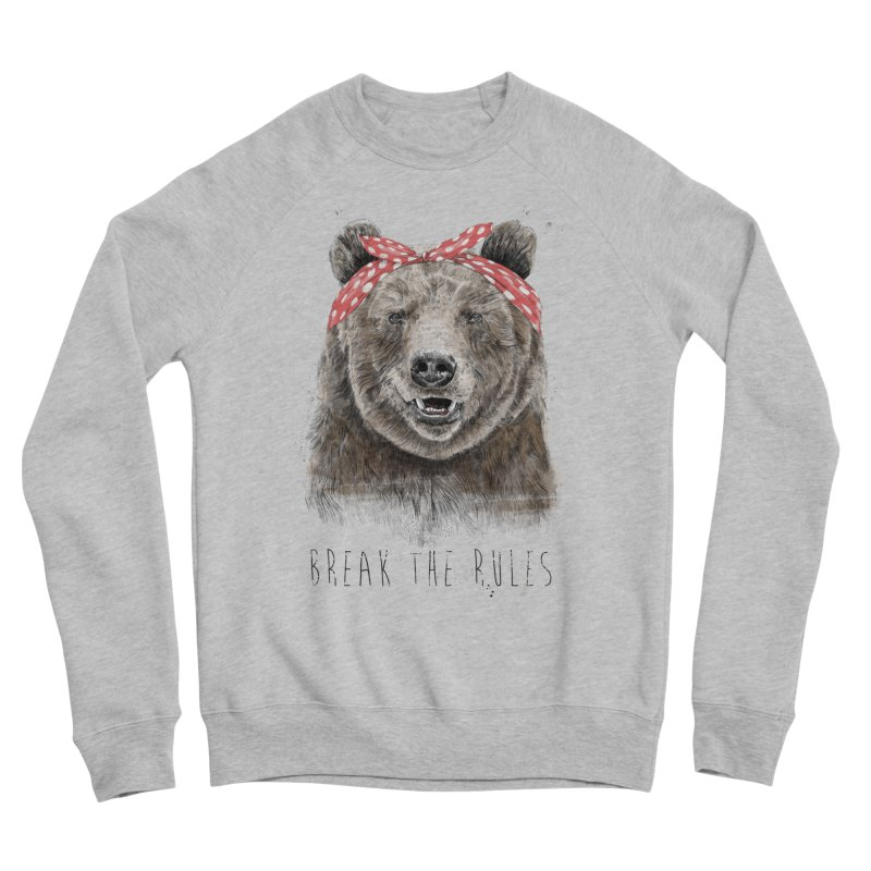 Break the rules Women's Sponge Fleece Sweatshirt by Balazs Solti
