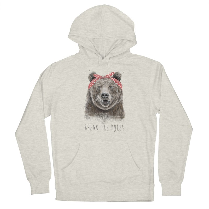 Break the rules Women's French Terry Pullover Hoody by Balazs Solti