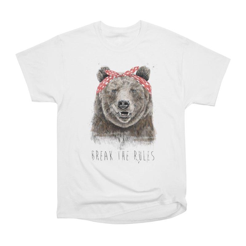 Break the rules Women's Heavyweight Unisex T-Shirt by Balazs Solti