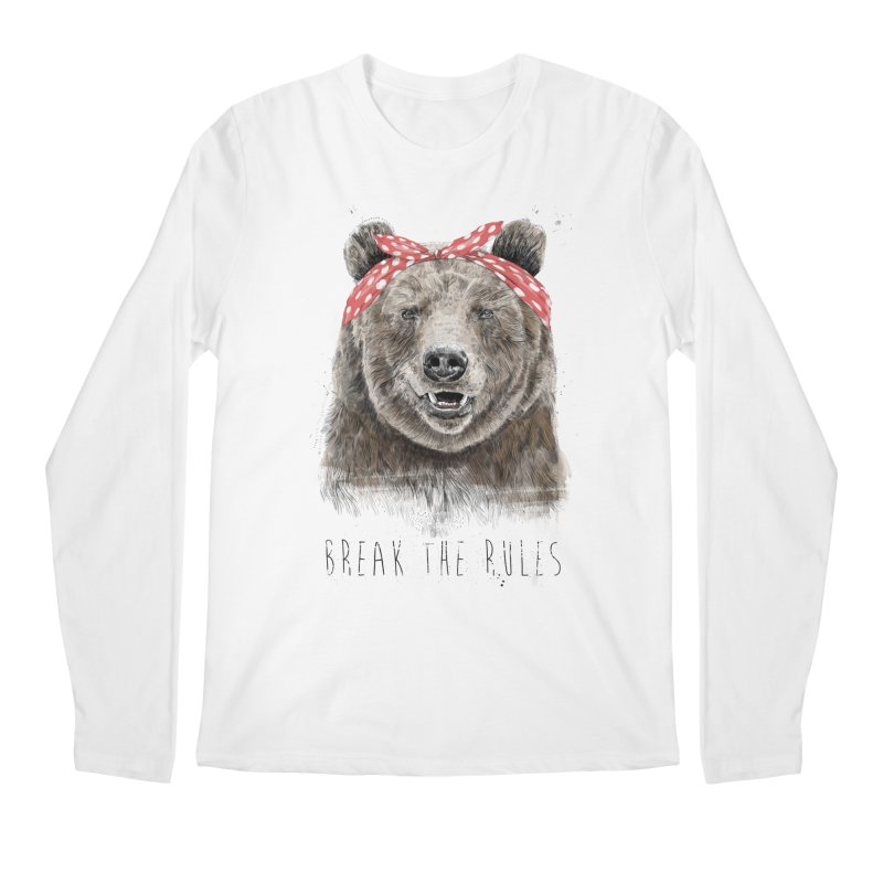 Break the rules Men's Regular Longsleeve T-Shirt by Balazs Solti
