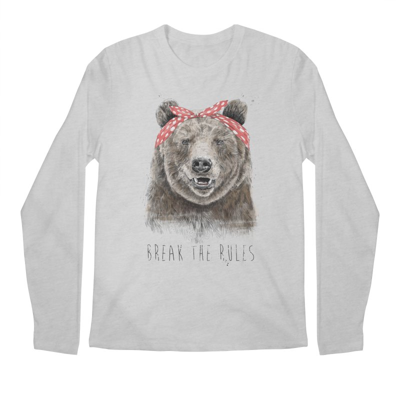 Break the rules Men's Regular Longsleeve T-Shirt by Balazs Solti
