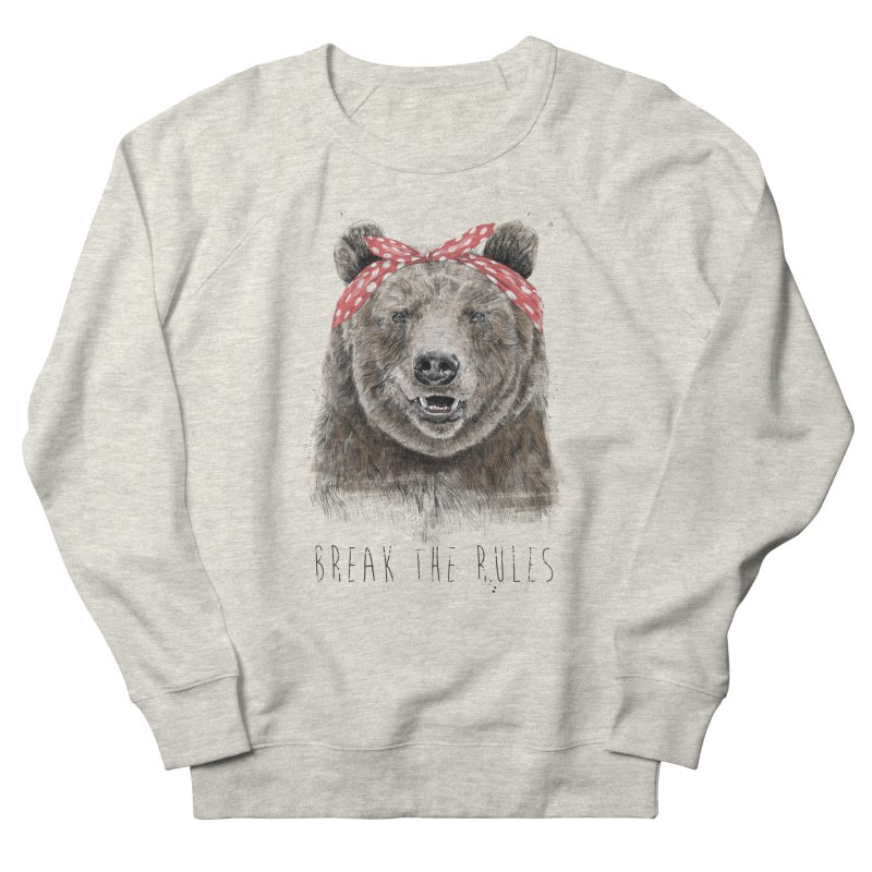 Break the rules Men's French Terry Sweatshirt by Balazs Solti