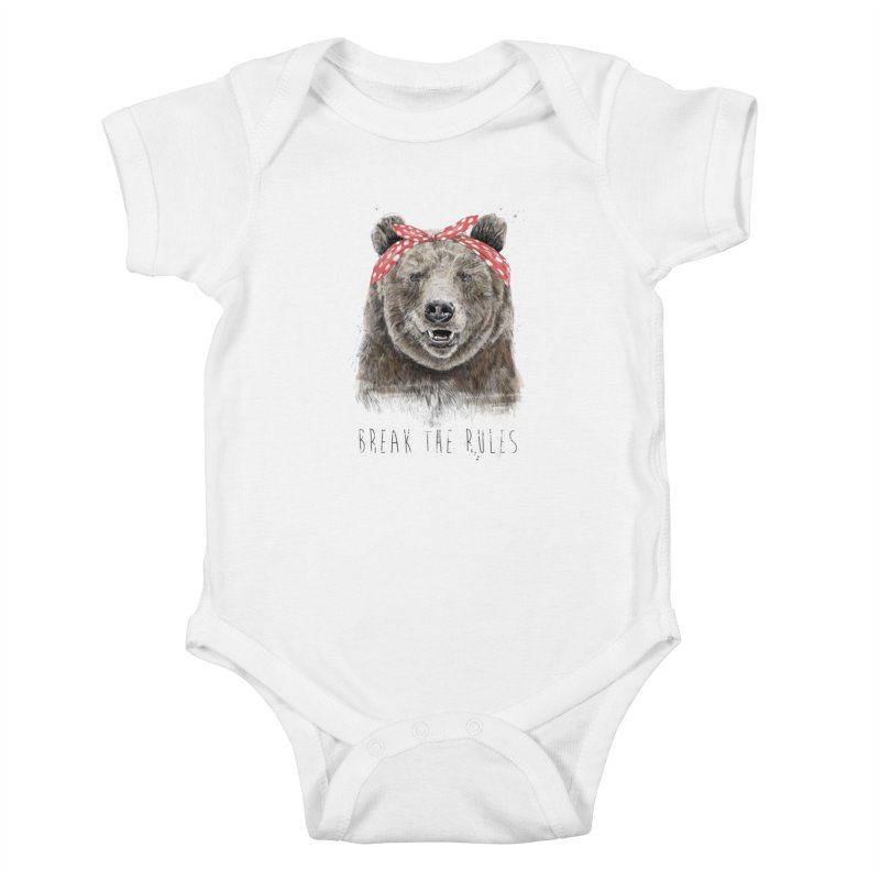 Break the rules Kids Baby Bodysuit by Balazs Solti