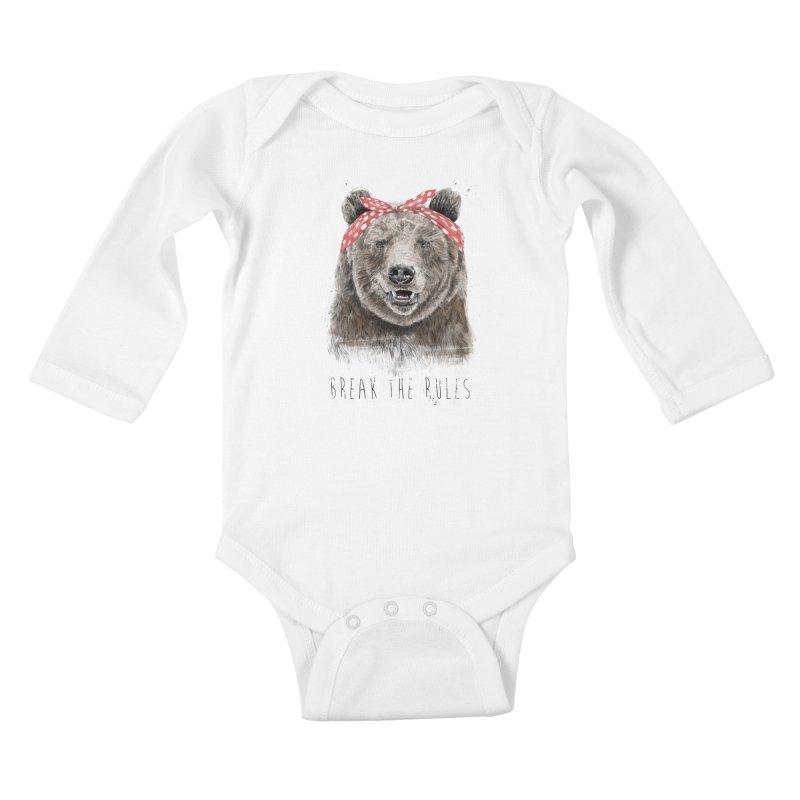 Break the rules Kids Baby Longsleeve Bodysuit by Balazs Solti