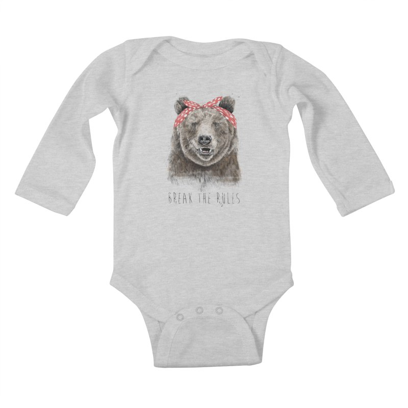 Break the rules Kids Baby Longsleeve Bodysuit by Balazs Solti