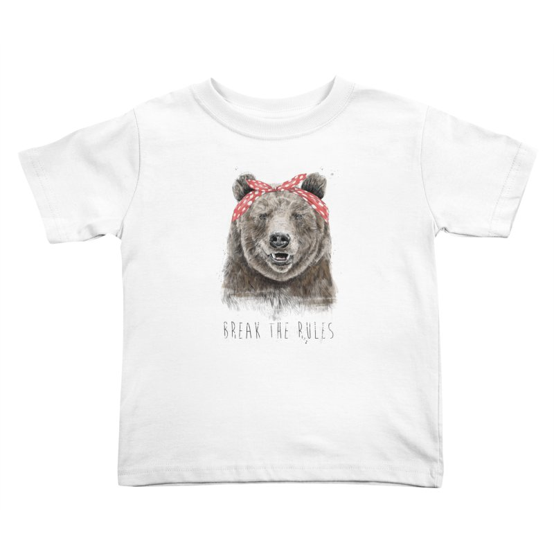 Break the rules Kids Toddler T-Shirt by Balazs Solti