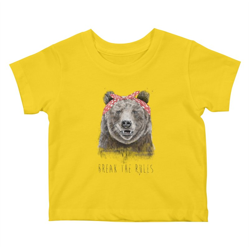 Break the rules Kids Baby T-Shirt by Balazs Solti