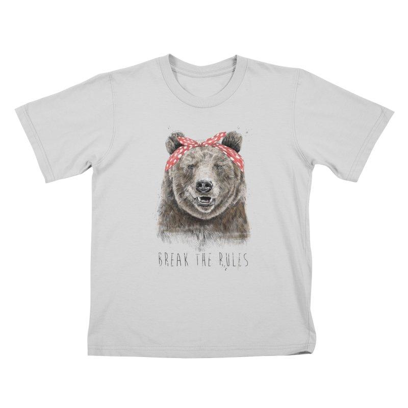 Break the rules Kids T-Shirt by Balazs Solti