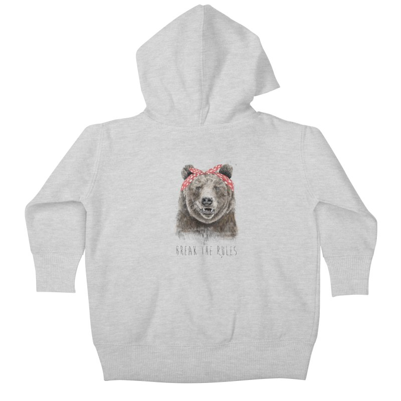 Break the rules Kids Baby Zip-Up Hoody by Balazs Solti