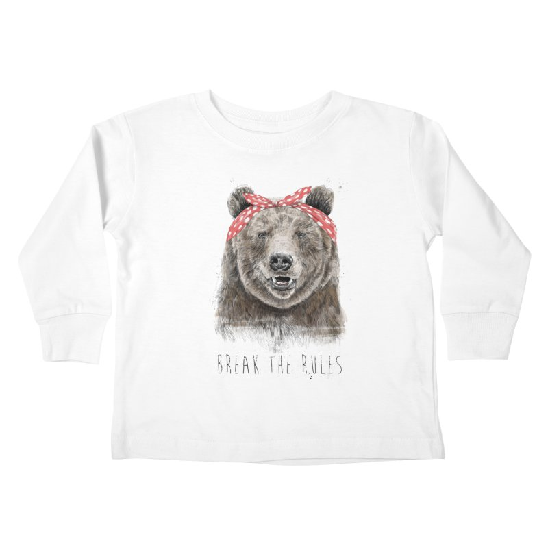 Break the rules Kids Toddler Longsleeve T-Shirt by Balazs Solti