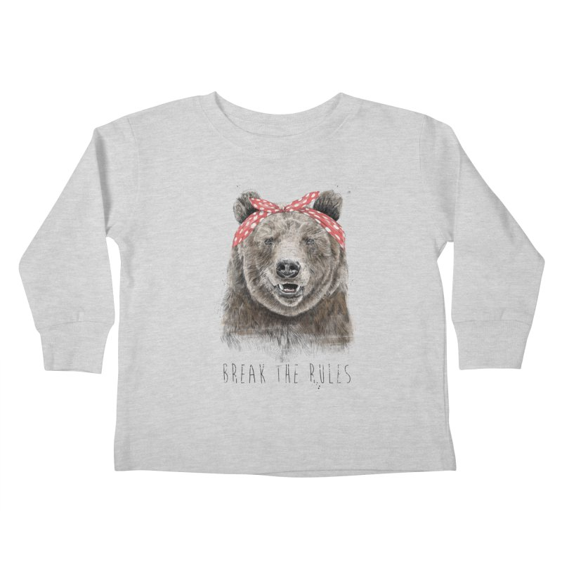 Break the rules Kids Toddler Longsleeve T-Shirt by Balazs Solti