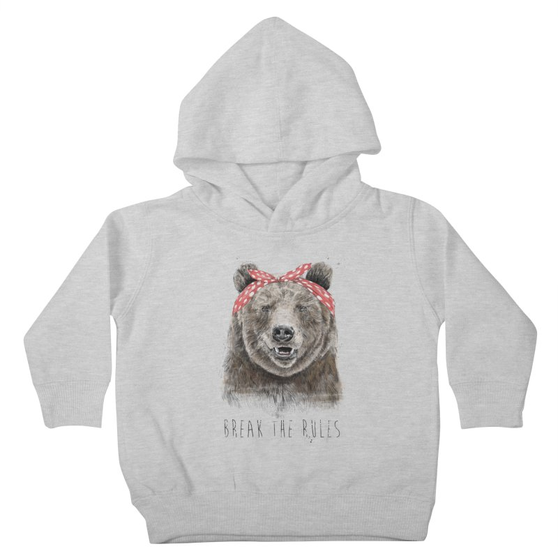 Break the rules Kids Toddler Pullover Hoody by Balazs Solti