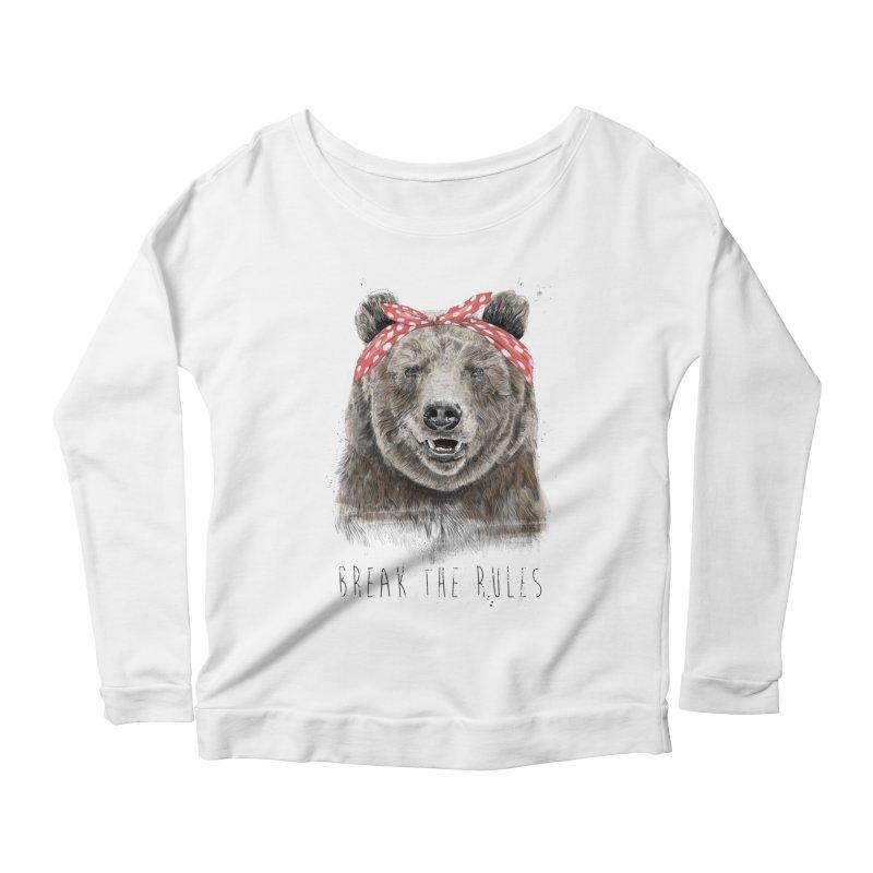 Break the rules Women's Scoop Neck Longsleeve T-Shirt by Balazs Solti
