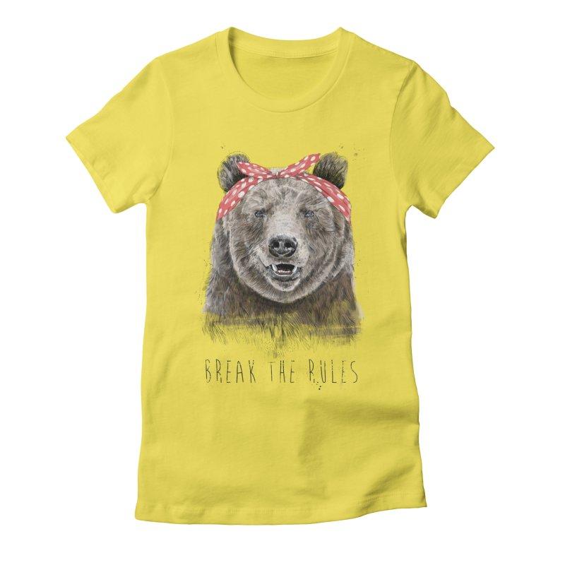 Break the rules Women's T-Shirt by Balazs Solti
