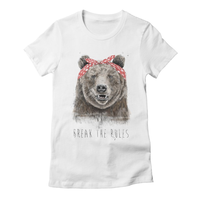 Break the rules Women's Fitted T-Shirt by Balazs Solti