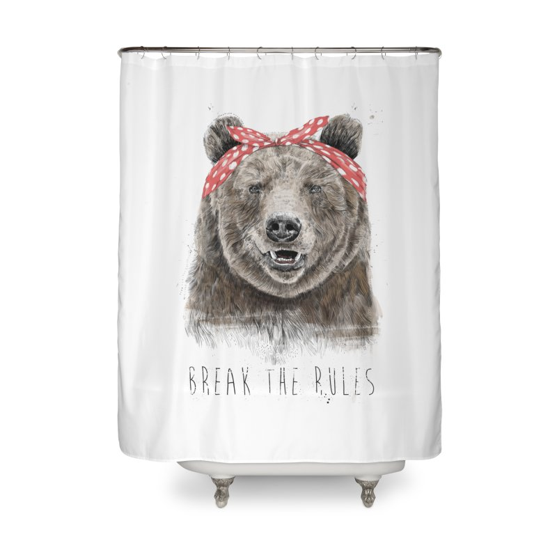 Break the rules Home Shower Curtain by Balazs Solti