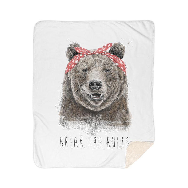 Break the rules Home Sherpa Blanket Blanket by Balazs Solti