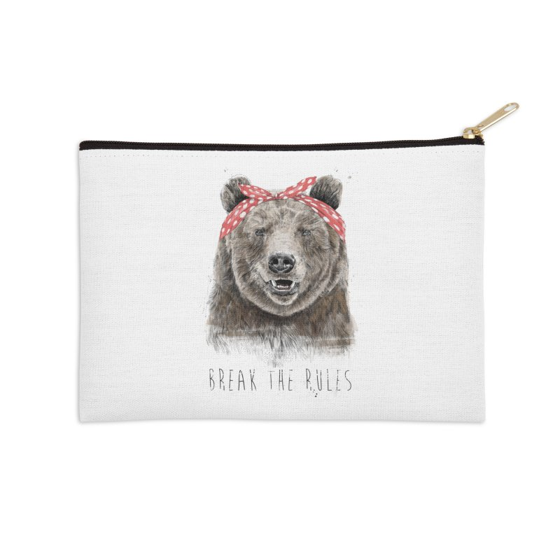 Break the rules Accessories Zip Pouch by Balazs Solti