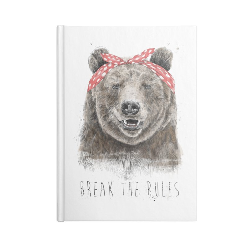 Break the rules Accessories Blank Journal Notebook by Balazs Solti