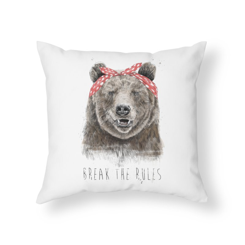 Break the rules Home Throw Pillow by Balazs Solti