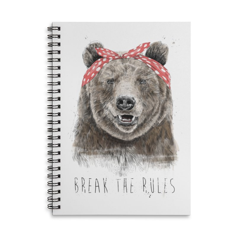 Break the rules Accessories Lined Spiral Notebook by Balazs Solti