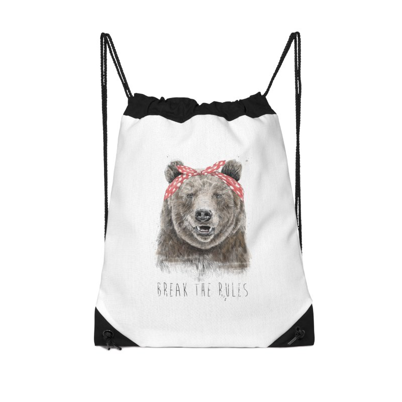 Break the rules Accessories Drawstring Bag Bag by Balazs Solti