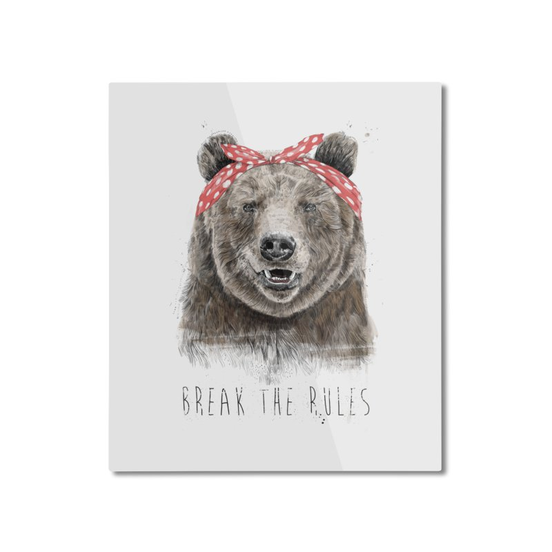 Break the rules Home Mounted Aluminum Print by Balazs Solti
