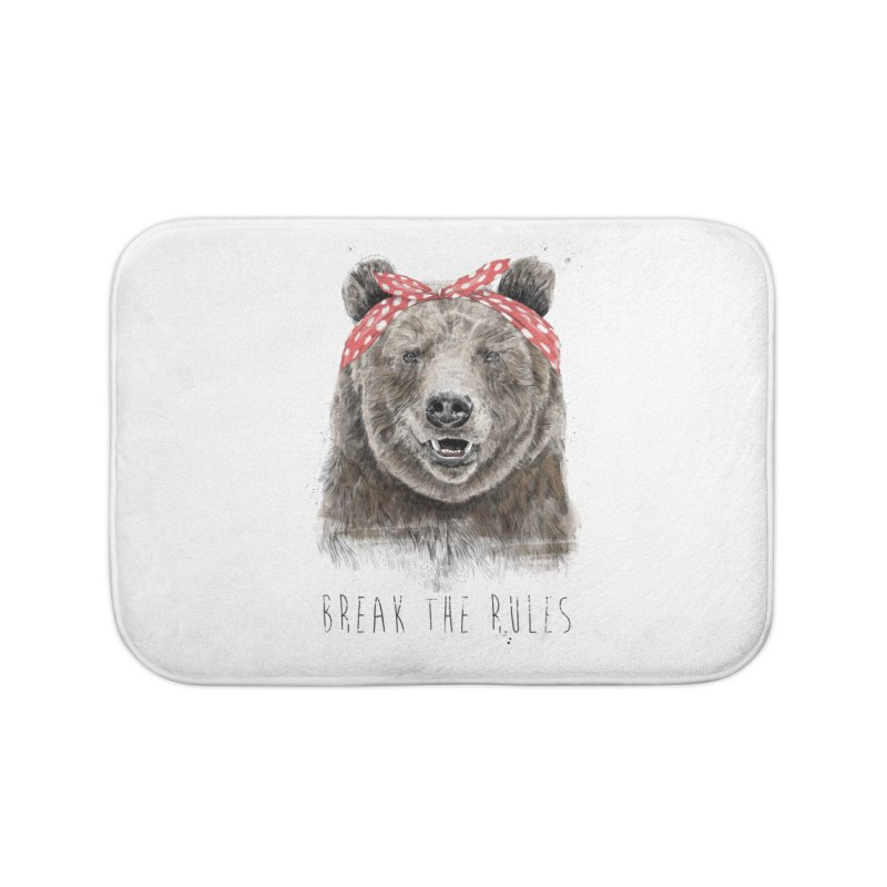 Break the rules Home Bath Mat by Balazs Solti