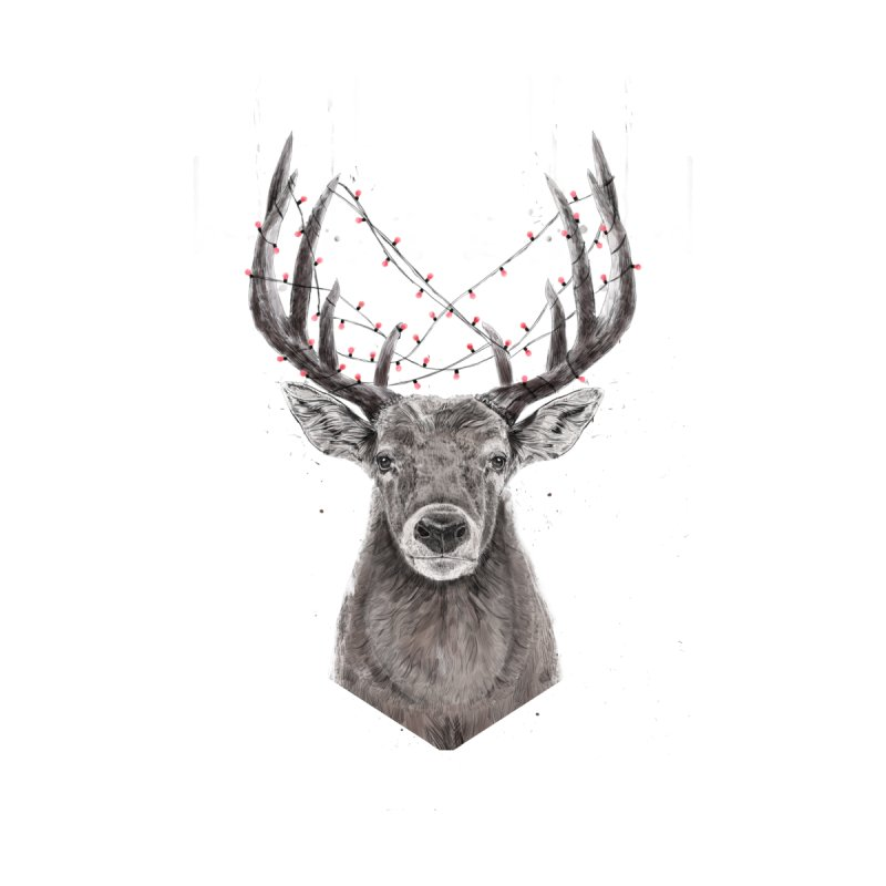 Xmas deer Men's V-Neck by Balazs Solti