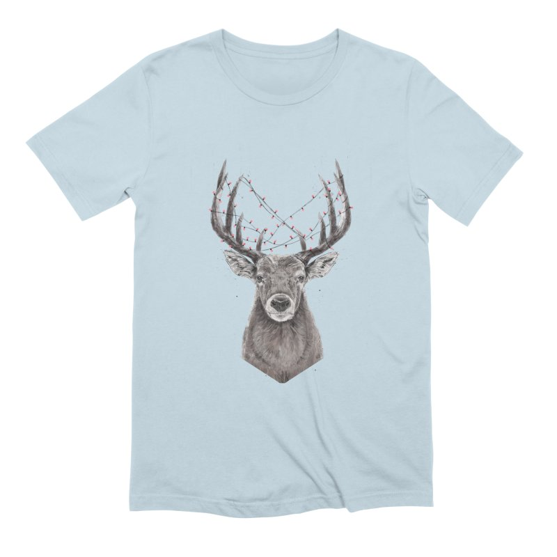 Xmas deer Men's Extra Soft T-Shirt by Balazs Solti