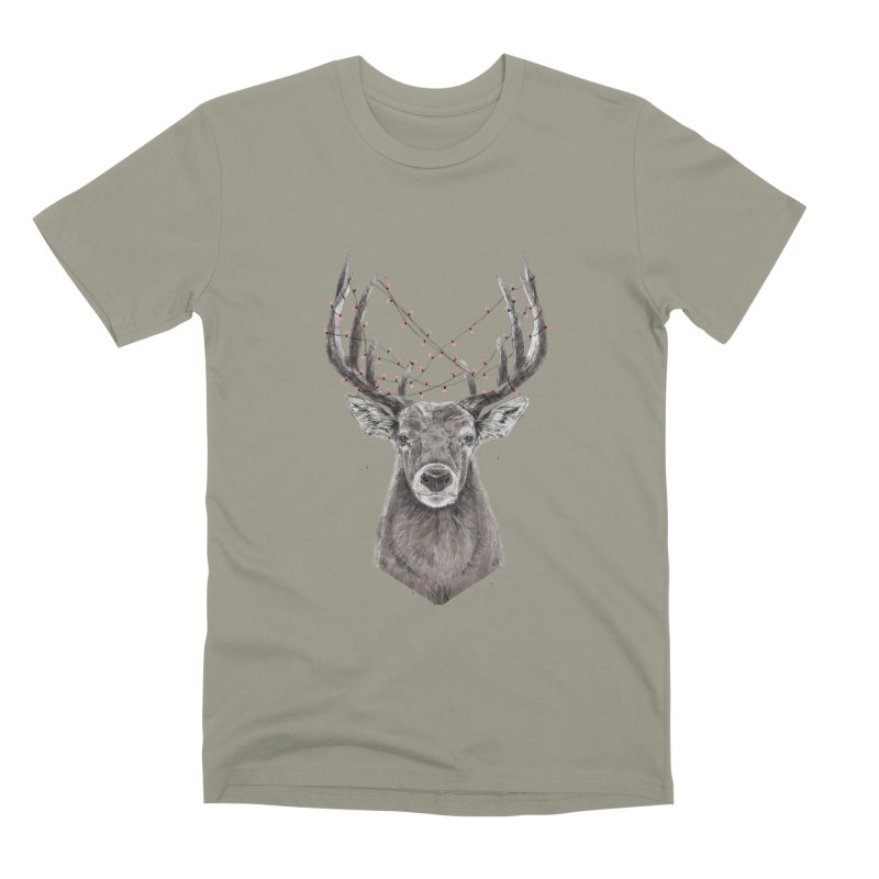 Xmas deer Men's Premium T-Shirt by Balazs Solti