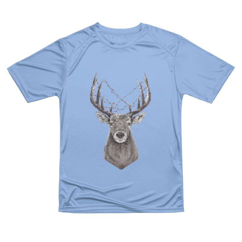 Xmas deer Men's Performance T-Shirt by Balazs Solti