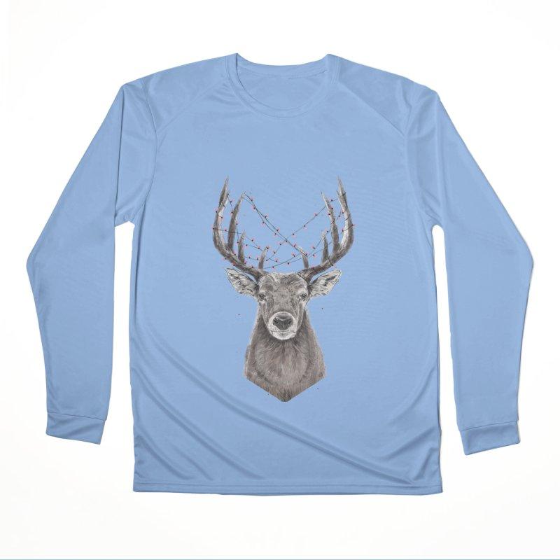 Xmas deer Women's Longsleeve T-Shirt by Balazs Solti