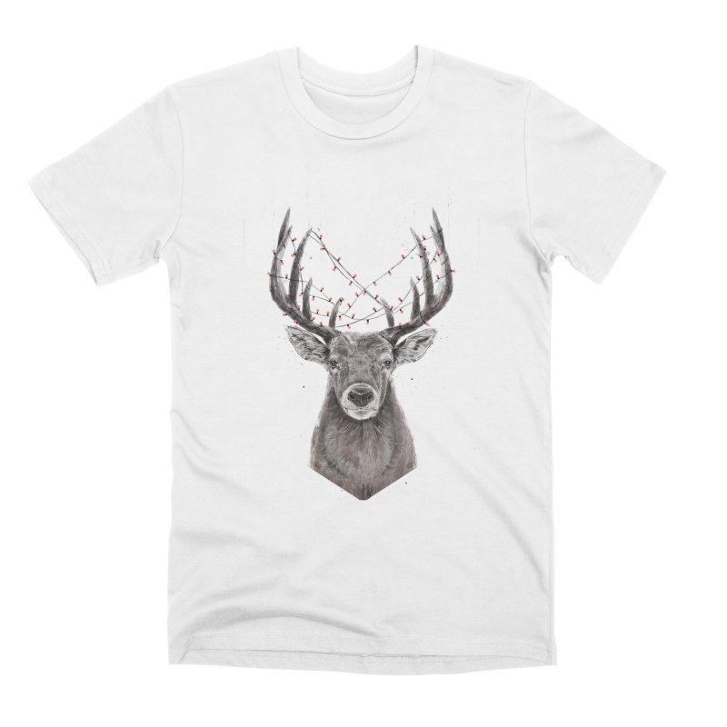 Xmas deer Men's Premium T-Shirt by Balazs Solti